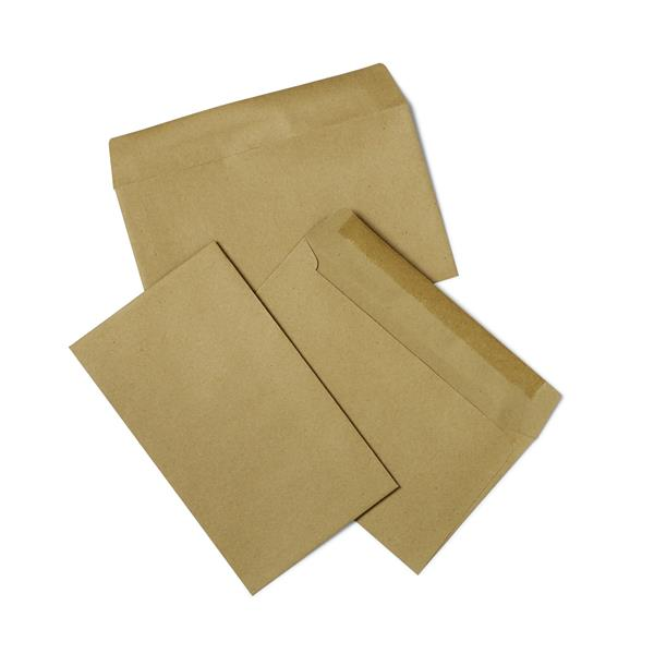 5 Star Office Envelopes Recycled Lightweight Wallet Gummed 75gsm Manilla 89x152mm [Pack 2000]