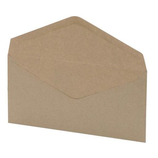 5 Star Office Envelopes Recycled Lightweight Wallet Gummed Window 75gsm Manilla DL [Pack 1000]