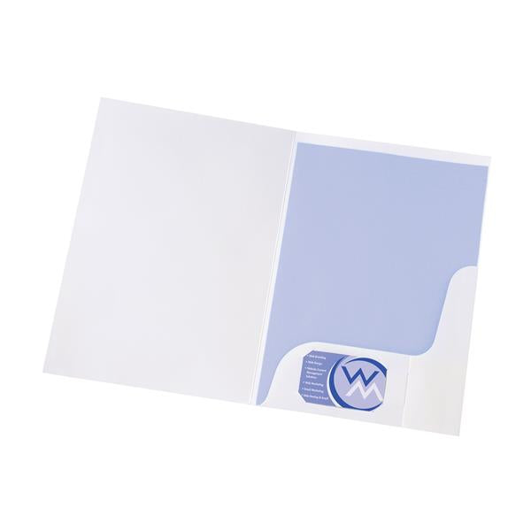 5 Star Office Corporate Presentation Folder Gloss White [Pack 50]