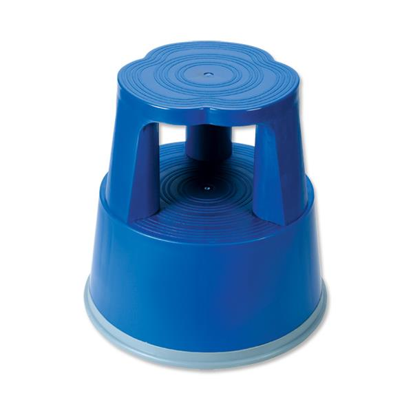 5 Star Facilities Step Stool - Plastic, Lightweight & Strong - Blue