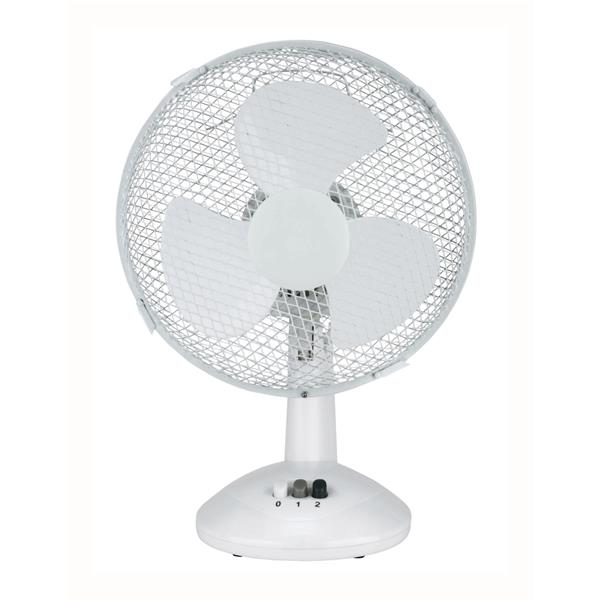 5 Star Facilities Desk Fan Oscillating Silent Non-tilt 2 Speed Cable 1.25m Dia.229mm