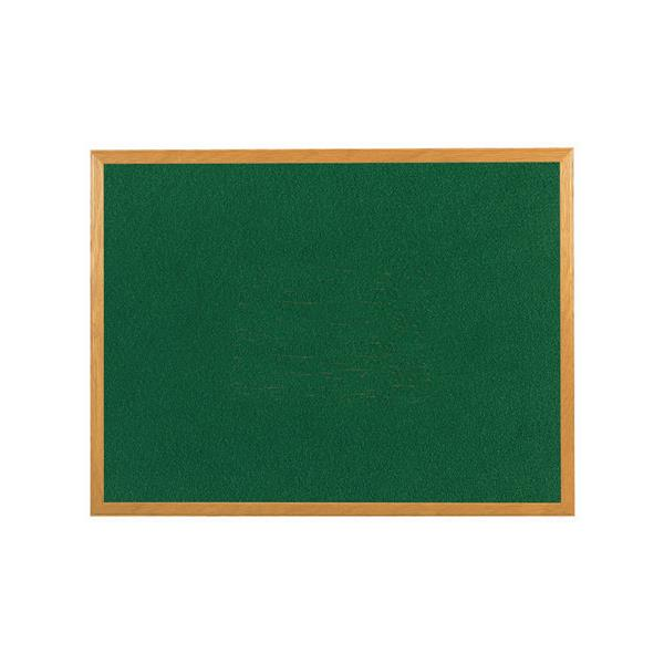 5 Star Office Felt Noticeboard Wooden Frame W1200xH900mm Green