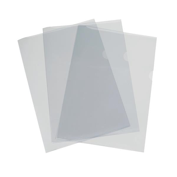 5 Star Elite Folder PVC Cut Flush 150 Micron A4 Clear [Pack 50]