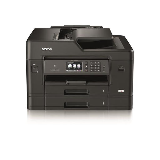 Brother Colour Inkjet Multifunction Printer Wired and Wireless 20ipm A3 Black/Silver Ref MFCJ6930DWZU1