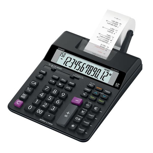 Casio HR-200RCE Printing Calculator 13 digit Display Black Ref HR-200RCE