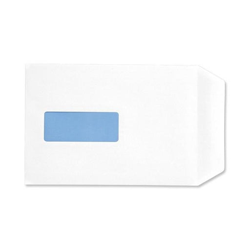 5 Star Eco Envelopes Recycled Pocket Self Seal Window 90gsm White C5 [Pack 500]