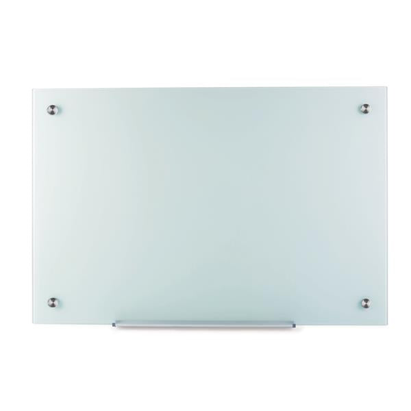 5 Star Office Glass Board Magnetic with Wall Fixings W1800xH1200mm White