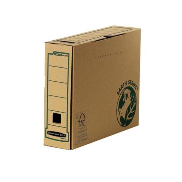 Bankers Box by Fellowes Earth Transfer File Recycled FSC Tab Lock Lid A4 [Pack 20]