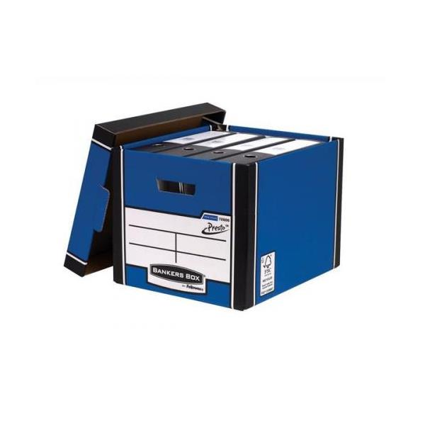 Bankers Box by Fellowes Premium 726 Archive Storage Box Blue and White [Pack 10]