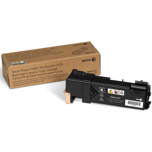 Xerox Phaser 6500 Laser Toner Cartridge High Capacity Page Life 3000pp Black Ref 106R01597