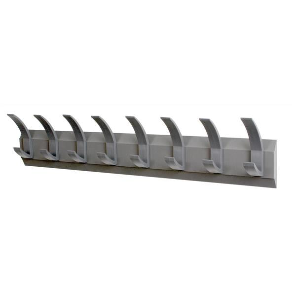 Acorn Hat and Coat Wall Rack with Concealed Fixings - 8 Hooks - Graphite