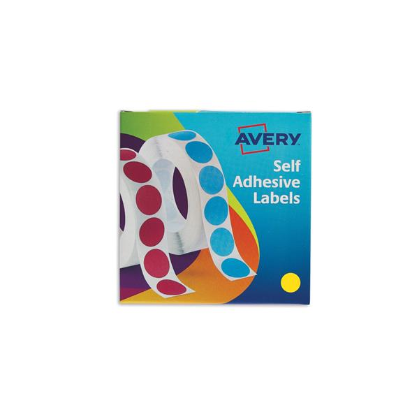 Avery Label Dispenser for Diam.19mm Yellow Ref 24-508 [1120 Labels]