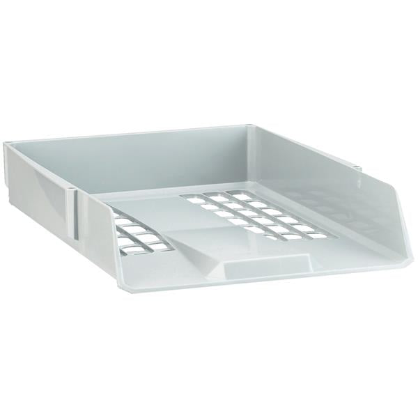 Avery Basics Letter Tray Stackable Versatile A4 Foolscap Light Grey
