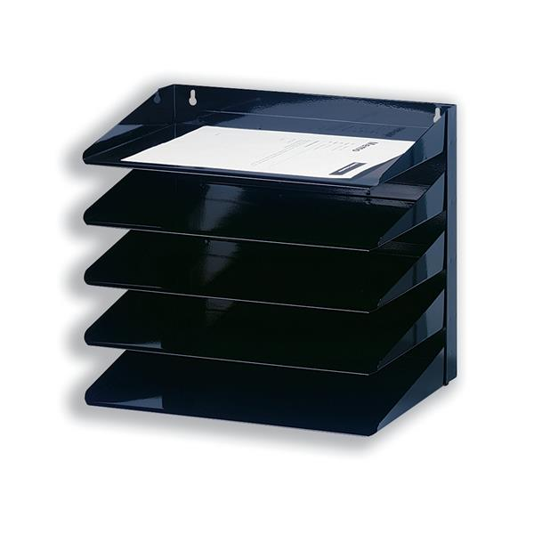 Avery Letter Rack 5-Tier Steel W380 x D230 x H335mm Black