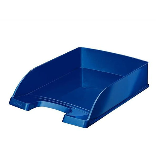 Leitz Bright Letter Tray Stackable Glossy Metallic Blue