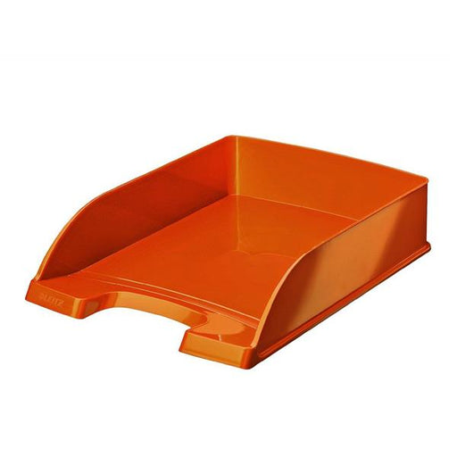 Leitz Bright Letter Tray Stackable Glossy Metallic Orange