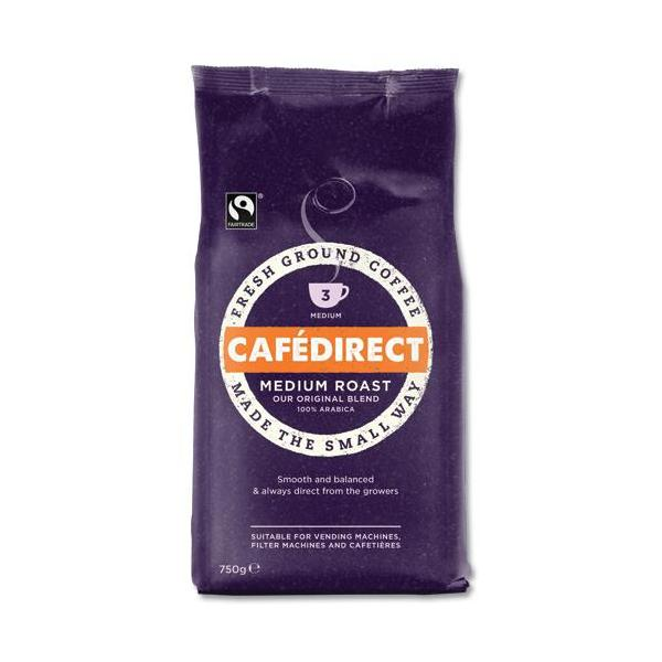 Cafe Direct Filter Coffee Fairtrade Medium Roast Smooth 227g