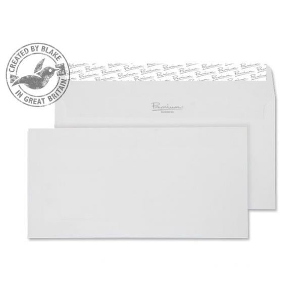 Blake Premium Envelope Wallet Peel & Seal 120gsm Wove Finish High White DL [Pack 500] Ref 35882