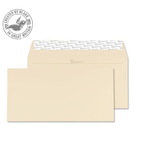 Blake Premium Envelope Wallet Peel & Seal 120gsm Wove Finish Cream DL [Pack 500] Ref 61882