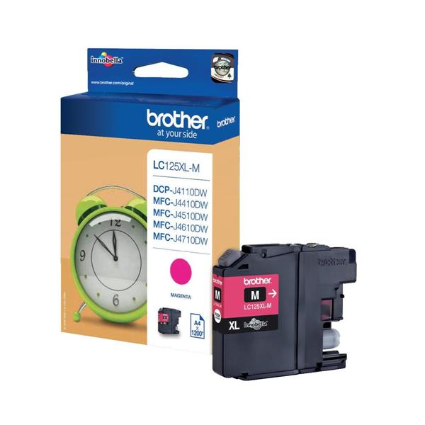 Brother Inkjet Cartridge Page Life 1200pp Magenta Ref LC125XLM