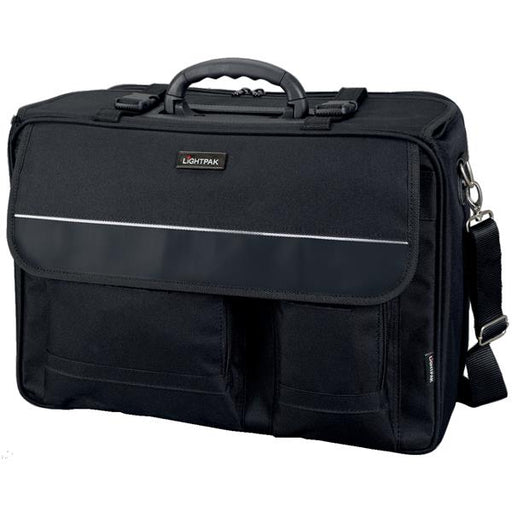 Lightpak The Flight Pilot Case Overnight Nylon 17in Laptop Compartment Black Ref 46008