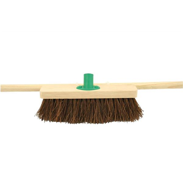 Bentley 12in Stiff Bassine Broom with Handle & Bracket Ref SPC/F10BKT/C4