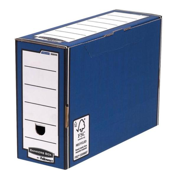 Bankers Box by Fellowes Premium Transfer File Blue and White [Pack 10]