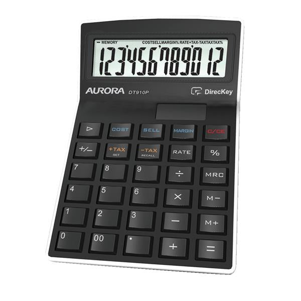 Aurora Calculator Semi Desktop Multifunction 12 Digit 3 Key Memory 139x94x33mm Ref DT910P