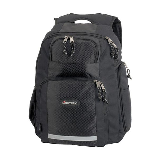 LightPak Safepak Backpack With 12in Laptop Case Nylon Black Ref 46053