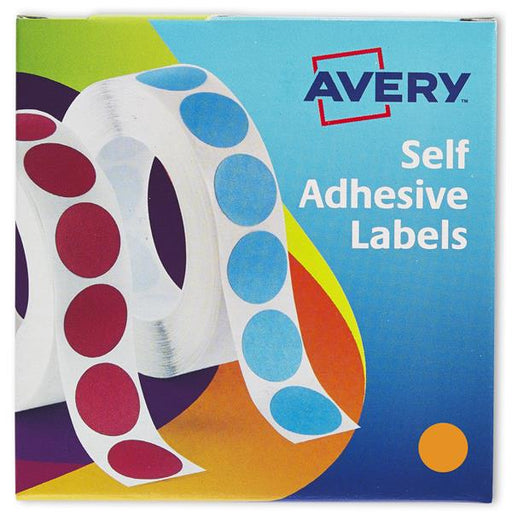 Avery Label Dispenser for Diam.19mm Orange Ref 24-608 [1120 Labels]