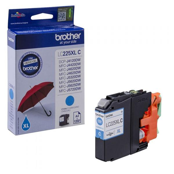 Brother Inkjet Cartridge High Yield 11.8ml Page Life 1200pp Cyan Ref LC225XLC