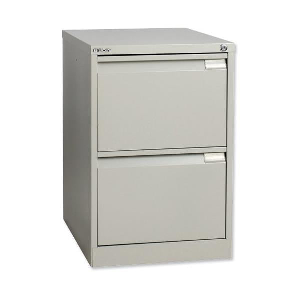 Bisley BS2E Filing Cabinet - 2 Drawer - H711mm - Goose Grey