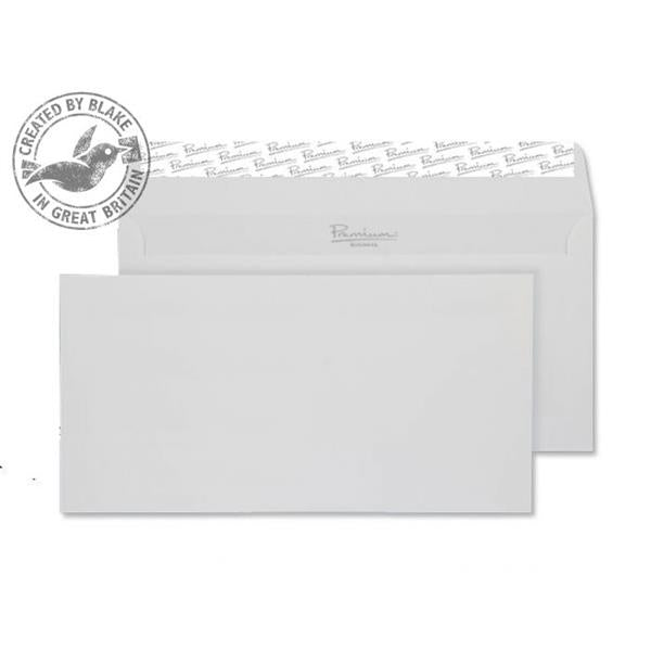 Blake Premium Envelope Wallet Peel & Seal 120gsm Brilliant White DL [Pack 500] Ref 37882