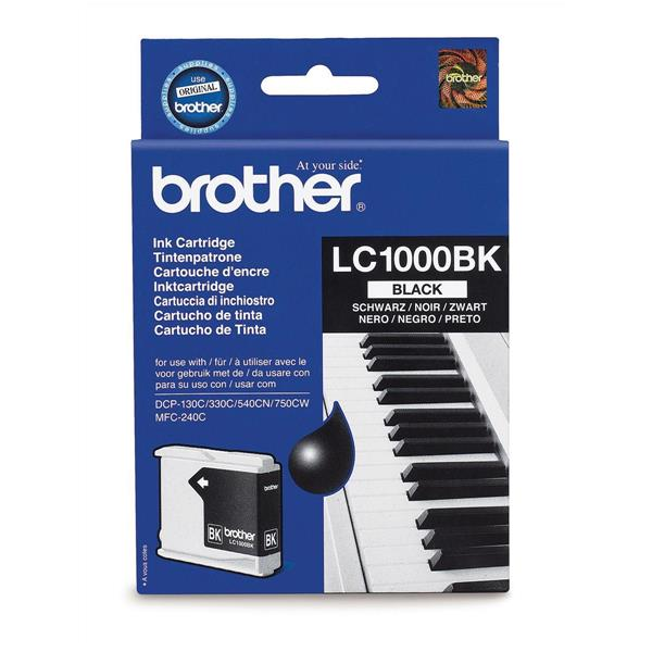Brother Inkjet Cartridge Page Life 500pp Black Ref LC1000BK