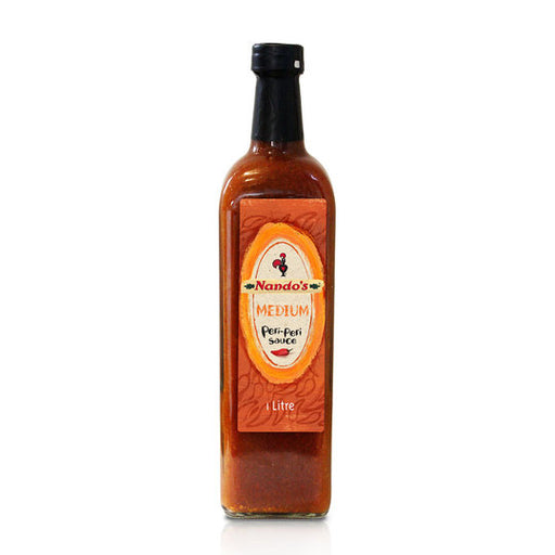Nando's Peri Peri Sauce - Medium - 1Litre Bulk Bottle