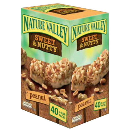 Nature Valley Sweet & Salty Peanut Bars (Box of 40) - New Improved Packaging & Taste
