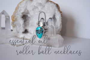 New to the Shop ::: Essential Oil Rollerball Necklaces