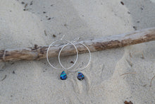 Abalone Hoop Earrings