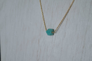 You're a Gem Necklace: Amazonite