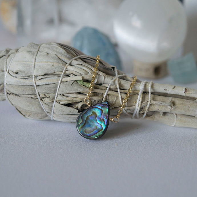 You're a Gem Necklace: Abalone