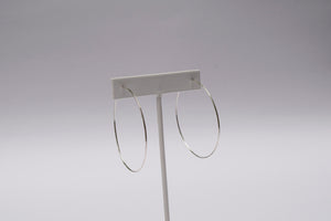 Medium Featherlight Hoops - Silver