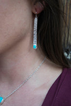 Silver Bar Turquoise Earrings