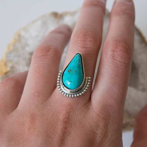 Dawn Ring ::: Turquoise and Sterling Silver Ring