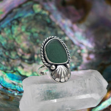 Dark Green Seaglass Ring