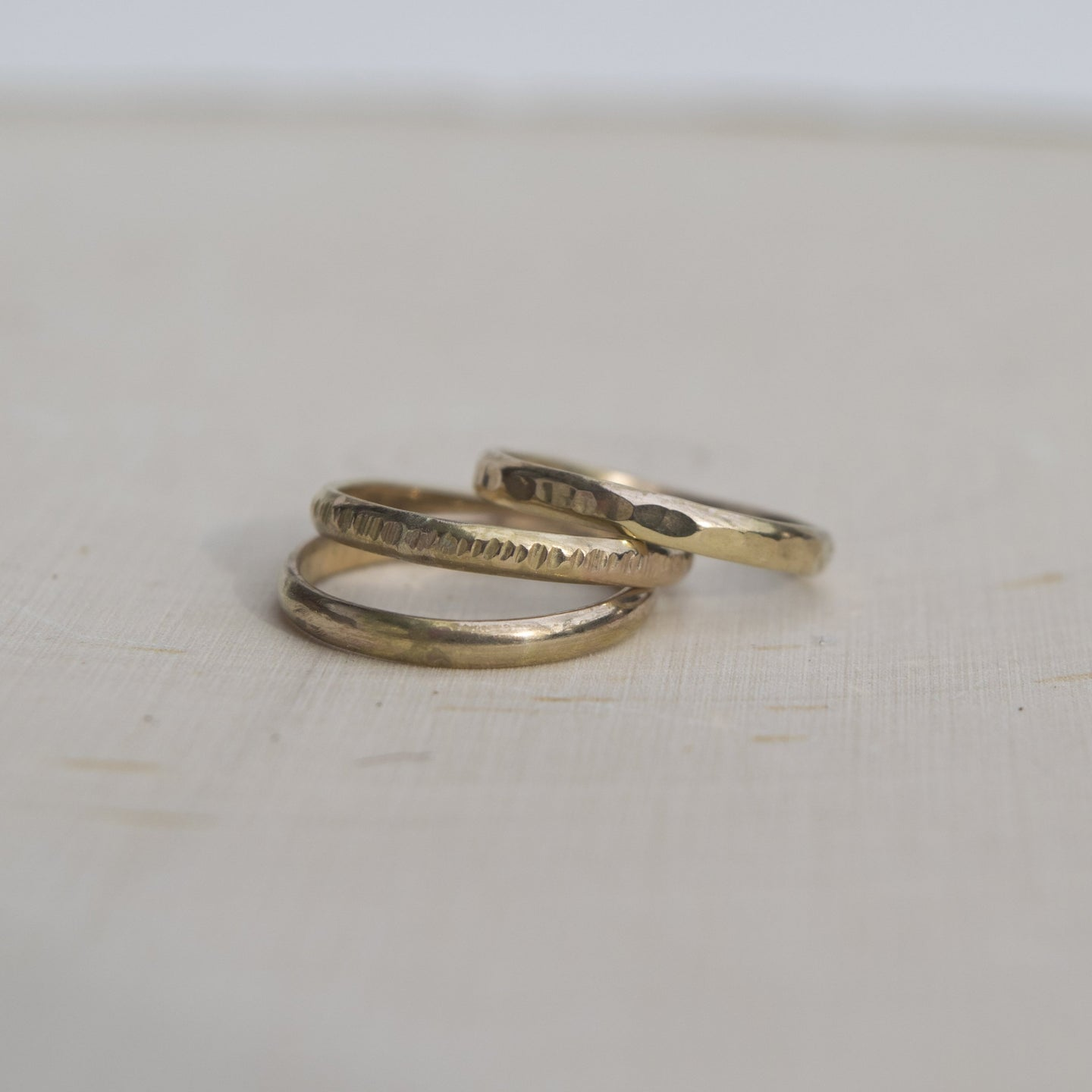 Gold Bohemian Midi Ring Set