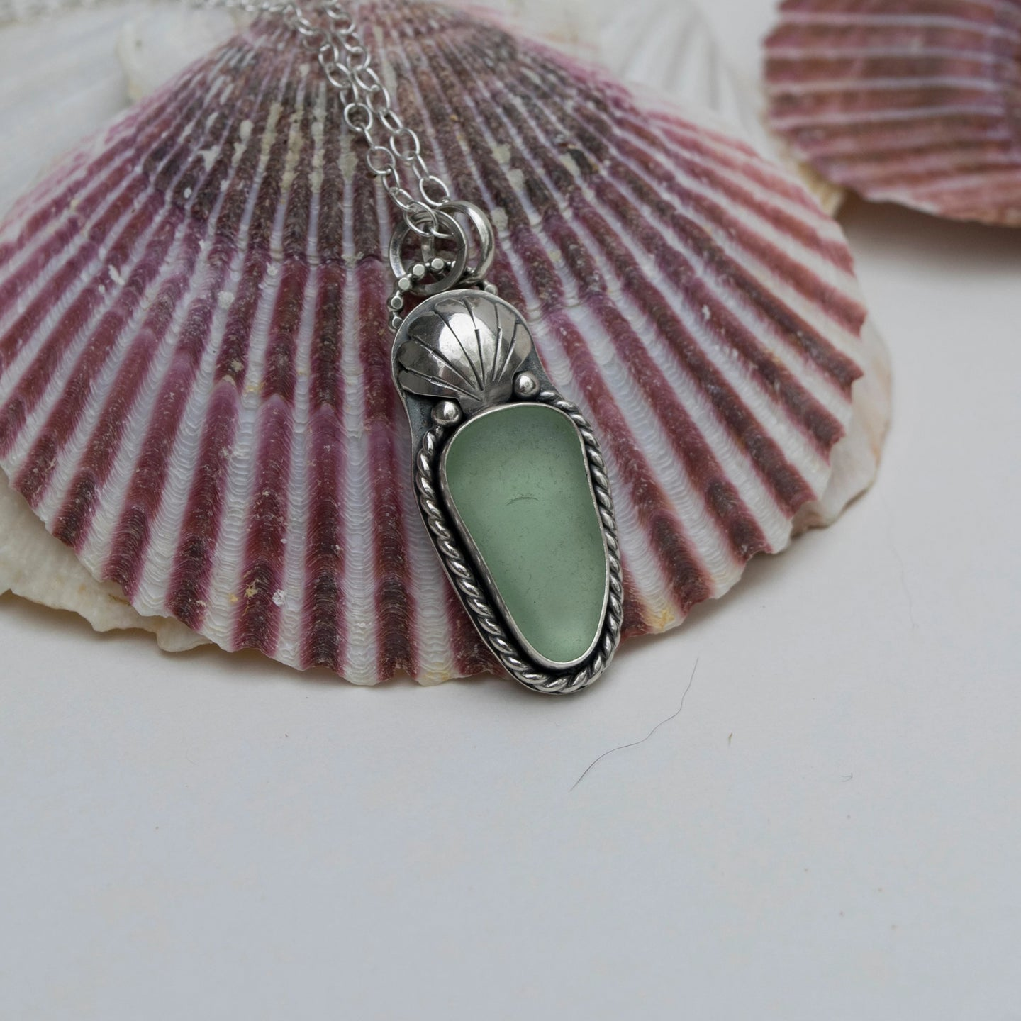 Seafoam Sea Glass Pendant