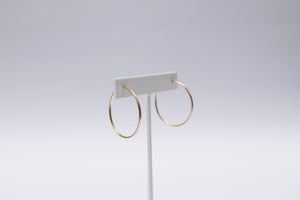 Medium Eclipse Hoops- Gold