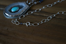 Turquoise and Crystal Slice Necklace