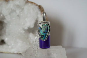 Abalone Rollerball Necklace