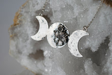 Persephone Necklace ::: Sterling Silver Triple Goddess Floral Necklace